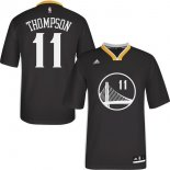 Divise Basket Personalizzate NBA Golden State Warriors Manica Corta NO.11 Klay Thompson Nero
