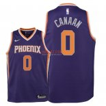 Divise Basket Personalizzate NBA Bambino Phoenix Suns NO.0 Isaiah Canaan Porpora Icon 2018