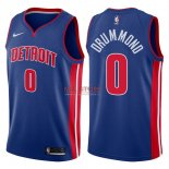 Divise Basket Personalizzate NBA Detroit Pistons NO.0 Andre Drummond Blu Icon 2017/2018