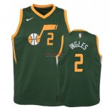 Divise Basket Personalizzate NBA Bambino Earned Edition Utah Jazz NO.2 Joe Ingles Verde 2018-19