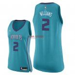 Divise Basket Personalizzate NBA Donna Charlotte Hornets NO.2 Marvin Williams Verde Icon 2018