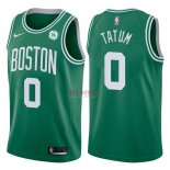 Divise Basket Personalizzate NBA Boston Celtics NO.0 Jayson Tatum Verde 2017/2018