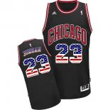 Divise Basket Personalizzate NBA USA Flag Special Edition NO.23 Jordan Nero