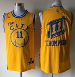 Divise Basket Personalizzate NBA Golden State Warriors NO.11 Klay Thompson Giallo