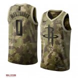 Divise Basket Personalizzate NBA Houston Rockets NO.0 Russell Westbrook Camouflage 2019