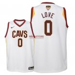 Divise Basket Personalizzate NBA Bambino Cleveland Cavaliers Finale Campioni 2018 NO.0 Kevin Love Bianco Association Patch