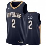 Divise Basket Personalizzate NBA New Orleans Pelicans NO.2 Lonzo Ball Marine Icon 2019-20