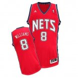 Divise Basket Personalizzate NBA Brooklyn Nets NO.8 Deron Michael Williams Rosso
