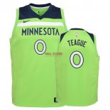 Divise Basket Personalizzate NBA Bambino Minnesota Timberwolves NO.0 Jeff Teague Verde Statement 2018