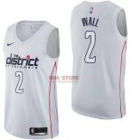 Divise Basket Personalizzate NBA Washington Wizards NO.2 John Wall Nike Bianco Città 2017/2018