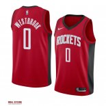 Divise Basket Personalizzate NBA Houston Rockets NO.0 Russell Westbrook Rosso Icon 2019-20