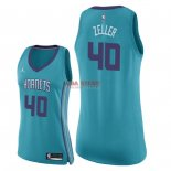 Divise Basket Personalizzate NBA Donna Charlotte Hornets NO.40 Cody Zeller Verde Icon 2018