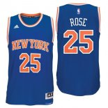 Divise Basket Personalizzate NBA New York Knicks NO.25 Derrick Rose Blu