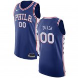 Divise Basket Personalizzate NBA Philadelphia Sixers NO.0 Jacob Pullen Blu Icon 2017/2018