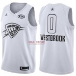 Divise Basket Personalizzate NBA 2018 All Star Russell Westbrook NO.0 Bianco