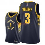 Divise Basket Personalizzate NBA Indiana Pacers NO.3 Aaron Holiday Marino Icon 2017/2018