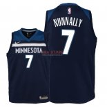 Divise Basket Personalizzate NBA Bambino Minnesota Timberwolves NO.7 James Nunnally Marino Icon 2018