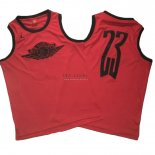 Divise Basket Personalizzate NBA Chicago Bulls NO.23 Michael Jordan Flying Wing Logo Rosso