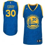 Divise Basket Personalizzate NBA Golden State Warriors Luce Leopard NO.30 Curry Blu