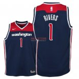 Divise Basket Personalizzate NBA Bambino Washington Wizards NO.1 Austin Rivers Marino Statement 2018