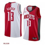 Divise Basket Personalizzate NBA Houston Rockets NO.13 James Harden Rosso Bianco Split Edition