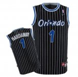 Divise Basket Personalizzate NBA Orlando Magic NO.1 Anfernee Hardaway Nero