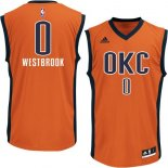 Divise Basket Personalizzate NBA Oklahoma City Thunder NO.0 Russell Westbrook Arancia