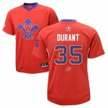 Divise Basket Personalizzate NBA 2014 All Star NO.35 Kevin Durant Rosso