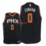 Divise Basket Personalizzate NBA Bambino Phoenix Suns NO.0 Isaiah Canaan Nero Statement 2018