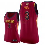 Divise Basket Personalizzate NBA Donna Cleveland Cavaliers 2018 Finale Campioni NO.3 George Hill Rosso Icon Patch