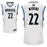 Divise Basket Personalizzate NBA Minnesota Timberwolves NO.22 Andrew Wiggins Bianco