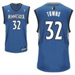Divise Basket Personalizzate NBA Minnesota Timberwolves NO.32 Karl Anthony Towns Blu