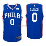 Divise Basket Personalizzate NBA Philadelphia Sixers NO.0 Jerryd Bayless Blu 2017/2018