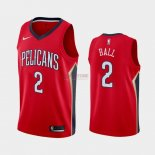 Divise Basket Personalizzate NBA Nike New Orleans Pelicans NO.2 Lonzo Ball Rosso Statement 2019-20
