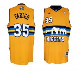 Divise Basket Personalizzate NBA Denver Nuggets NO.35 Kenneth Faried Giallo