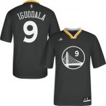 Divise Basket Personalizzate NBA Golden State Warriors Manica Corta NO.9 Andre Iguodala Nero