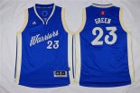 Divise Basket Personalizzate NBA Bambino 2015 Natale Golden State Warriors NO.23 Draymond Green Blu