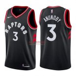 Divise Basket Personalizzate NBA Toronto Raptors NO.3 OG Anunoby Nero Statement 2017/2018