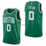 Divise Basket Personalizzate NBA Boston Celtics NO.0 Jayson Tatum Verde Icon 2017/2018