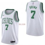 Divise Basket Personalizzate NBA Boston Celtics NO.7 Jaylen Brown Bianco Association 2017/2018