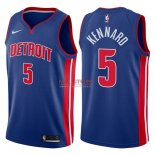 Divise Basket Personalizzate NBA Detroit Pistons NO.5 Luke Kennard Blu Icon 2017/2018