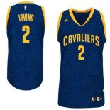 Divise Basket Personalizzate NBA Cleveland Cavaliers Luce Leopard NO.2 Irving Blu