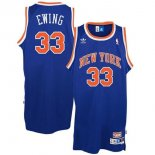 Divise Basket Personalizzate NBA New York Knicks NO.33 Patrick Ewing Blu