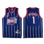 Divise Basket Personalizzate NBA Houston Rockets NO.1 Tracy McGrady Retro Blu