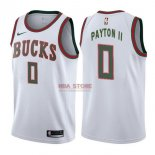 Divise Basket Personalizzate NBA Milwaukee Bucks NO.0 Gary Payton II Retro Bianco 2017/2018
