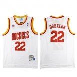 Divise Basket Personalizzate NBA Houston Rockets NO.22 Clyde Drexler Retro Bianco
