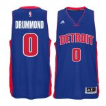 Divise Basket Personalizzate NBA Detroit Pistons NO.0 Andre Drummond Blu