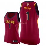 Divise Basket Personalizzate NBA Donna Cleveland Cavaliers 2018 Finale Campioni NO.1 Rodney Hood Rosso Icon Patch