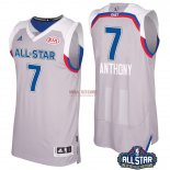 Divise Basket Personalizzate NBA 2017 All Star NO.7 Carmelo Anthony Grigio