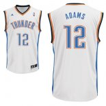 Divise Basket Personalizzate NBA Oklahoma City Thunder NO.12 Steven Adams Bianco